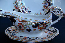 KEELING & Co. LOSOL WARE- TOKIO- c1920-GRAVY BOAT/ATTACHED PLATE-EXCELLENT!GILT!