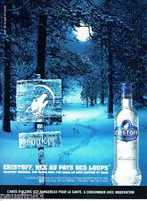 PUBLICITE ADVERTISING 046  2010   la vodka Eristoff premium