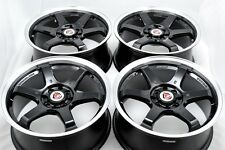 17 black wheels rims Civic Sonata Prelude Cooper Galant Legend Ion 4x100 4x114.3