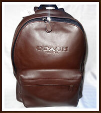 NWT NEW $550 Coach Men's Calf Leather Large Charles Sport Backpack MAHOGANY