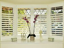Plantation shutters for bay window