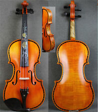 Hand Made 4/4 Violin w/ Beautiful Shell Inlay Purfling&Rare Drawing Ribs