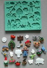 Silicone Mould GARDEN STUFF Sugarcraft Cake Decorating fondant fimo mold