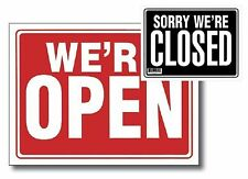 """2pc, 9"""" X 12"""" Open Sign w/ Closed Sign on Back"""