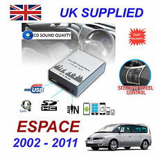 Renault ESPACE MP3 SD USB CD AUX entrada adaptador de Audio Digital Módulo de cambiador de CD