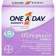 2 Pack One-A-Day Women's Menopause Formula Multivitamin, 50-tablet Bottle Each