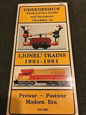 1901-1991 GREENBERG'S POCKET GUIDE TO LIONEL TRAINS MINT CONDITION!!!!!!!!!!!