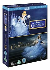 CINDERELLA 2-Movie Collection [Blu-ray Box Set] Disney 1950 Film + 2015 Movie