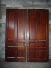 Antique Victorian 5 Panel Pocket Doors - Circa 1890 Fir Architectural Salvage