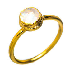 Moonstone 24k Gold Vermeil Sterling Silver Ring Size 7.5 Jewelry R799357F