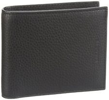 Lacoste Black Pass Case Coin Pocket Wallet NH0627J Genuine Leather New in Box