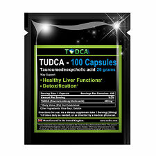 TUDCA 20 Grams Liver Support 200mg (Tauroursodeoxycholic Acid) 100 Capsules