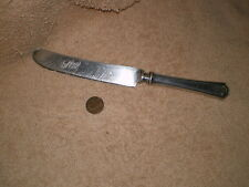 Silverplate Knife, Antique, No Maker Marks, Great pattern on Handle
