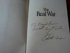 RICHARD NIXON  -  SIGNED AUTHENTIC 1st Edition/ 1st Print THE REAL WAR BOOK