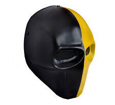 Black Yellow Airsoft CS Paintball Full Face Wire Mesh Protection Skull Mask PROP