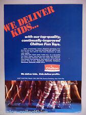 Chilton Toys Six-Page PRINT AD - 1974 ~~ 7Up Dispenser, Tea Set