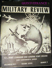 MILITARY REVIEW 37 US ARMY COMMAND & GENERAL STAFF COLLEGE FORT LEAVENWORTH 1957