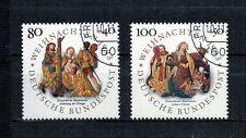 BRD 1993 Ersttagsstempel 1707 - 1708 gestempelt - Weihnachtsmarken Weihnachten
