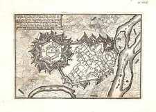 Antique map, Casal dit St. Vas, Ville Forte d'Italie Capitale du Monserrat
