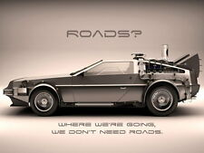 DeLorean Back to the Future Car Movie 24x32 inch Vintage POSTER
