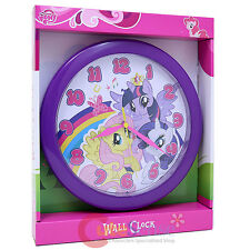 "My Little Pony Round Wall Clock 9.5"" Watch with Twilight  Rarity Fluttershy"