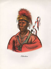 VINTAGE PRINT of 1830's NATIVE AMERICAN INDIAN ~ TAHROHON ~ IOWA