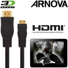 Arnova 7, 10, G3 Android Tablet PC Mini HDMI a HDMI TV 3M ORO Cavo Kabel Cavo