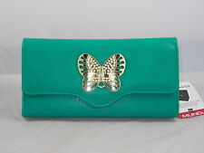 Mundi File Master Green Gold Butterfly Coupons Cash Receipts Organizer Wallet