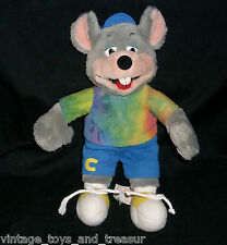 "12"" VINTAGE CHUCK E CHEESE 2002 CHARM CO PIZZA STUFFED ANIMAL PLUSH TOY DOLL"