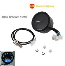 Universal Motorcycle Multifunction Meter Speed Mileage Gear Lights Fuel Table