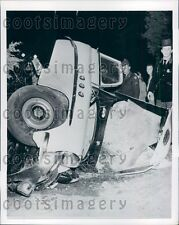 1955 Vintage Auto Wreck Involving US Army Soldiers Virginia Press Photo