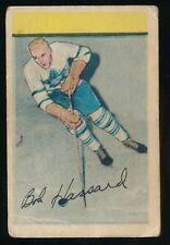 1952-53 Parkhurst Hockey #105 ROBERT HASSARD (Toronto Maple Leafs) *Last Card*
