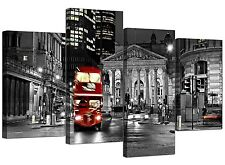 Canvas Prints of Red London Bus in Black & White for your Hallway - Cities