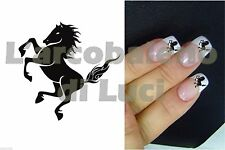 20 ADESIVI UNGHIE NAILS STICKERS CAVALLO RAMPANTE HORSE NAIL ART DECORAZIONE!
