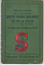 Singer Model 147 Sewing Machine Instruction Manual -- 147-100 and 147-101