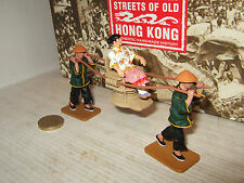 King and Country HK173M Streets of Old Hong Kong Sedan Chair Figure Set 1:30.