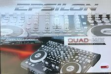 Epsilon - Quad-Mix - Powerful 4-Deck Professional MIDI/USB DJ Controller - WHITE