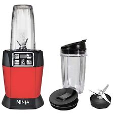 Ninja Auto-iQ Nutri Ninja 1000W Blender, Red | BL483 (Certified Refurbished)
