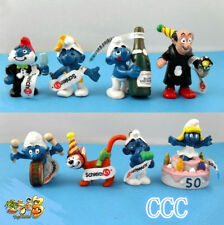 8 PCS The Smurfs Papa Smufette Anniversary Collection Figures