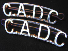ARMED FORCES Canadian Army Dental Corps C.A.D.C. CADC shoulder board titles bars
