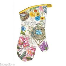 Michel Design Works Cotton Kitchen Oven Mitt Honeysuckle Bird Nest - NEW