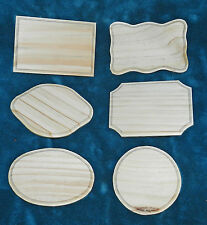 SET OF 6 UNFINISHED WOOD PLAQUES FOR CRAFTS! SIGNS