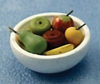 Bowl Of Fruit, Dolls House Miniature Room Accessory, Food & Drink