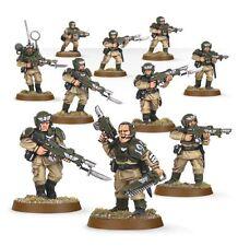 Warhammer 40000 47-17 Astra Militarum Cadian Squad 10 x Mini Figures Kit T48