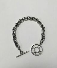 """Classic Tiffany & Co. Sterling Silver Atlas Toggle Charm Bracelet (925) 8"""""""