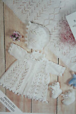 Baby's Matinee Coat/Jacket, Bonnet, Bootees and Shawl Knitting Pattern BP107