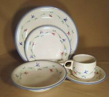 Savoir Vivre Portofino Blue (Lot of 2) 5 Piece Place Settings