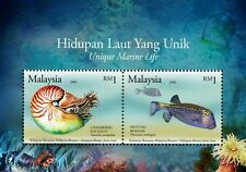 Malaysia Brunei Joint Issue Unique Marine Life 2006 2007 Fish Underwater (ms MNH