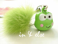 Keroppi Green Tuft Bell Mobile Cell Phone Charm Strap