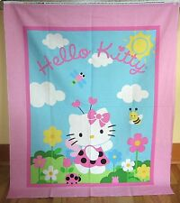 "1 Cute ""Hello Kitty Lady Bug"" Cotton Fabric Quilting/Wallhanging Panel"